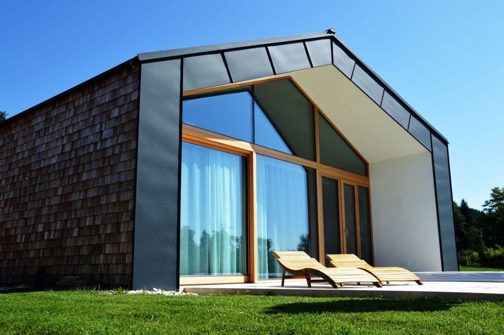Bauunternehmung Kiegerl - Einfamilienhaus mit Schindelfassade