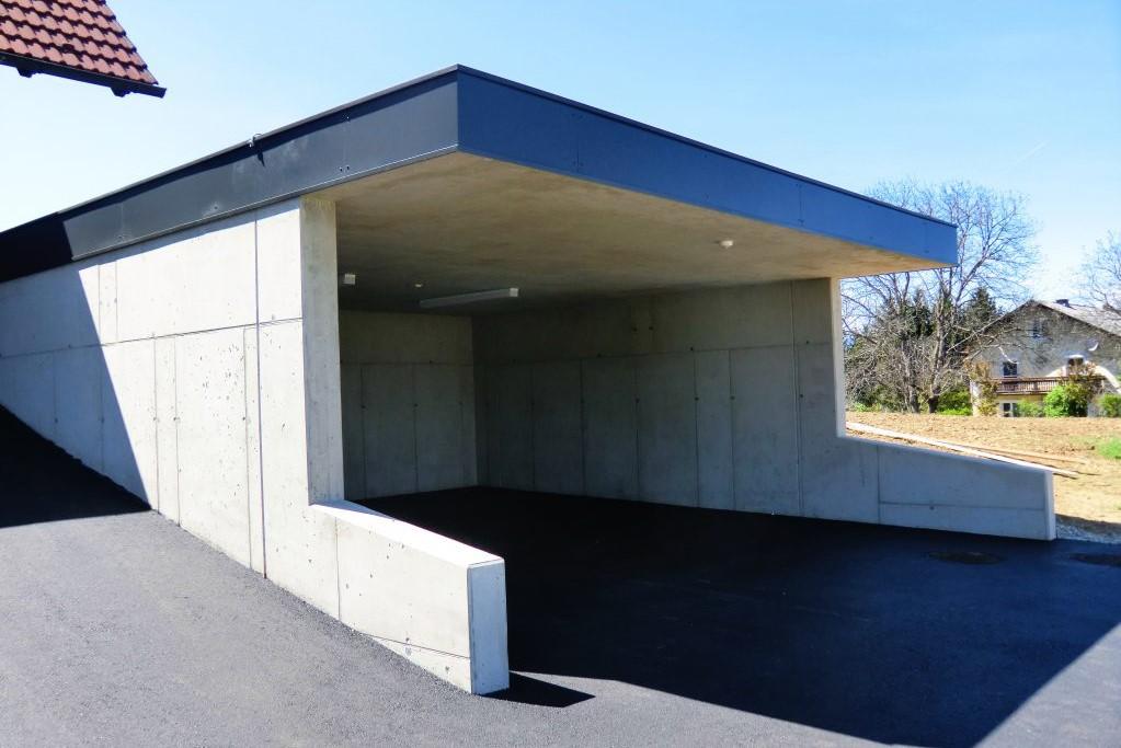 Kiegerl Bauunternehmung-Garage aus Beton