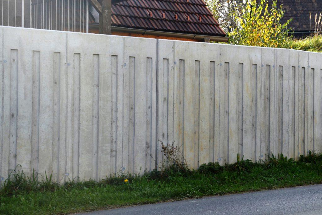 Lärmschutzwand Sichtbeton-Kiegerl Bauunternehmung