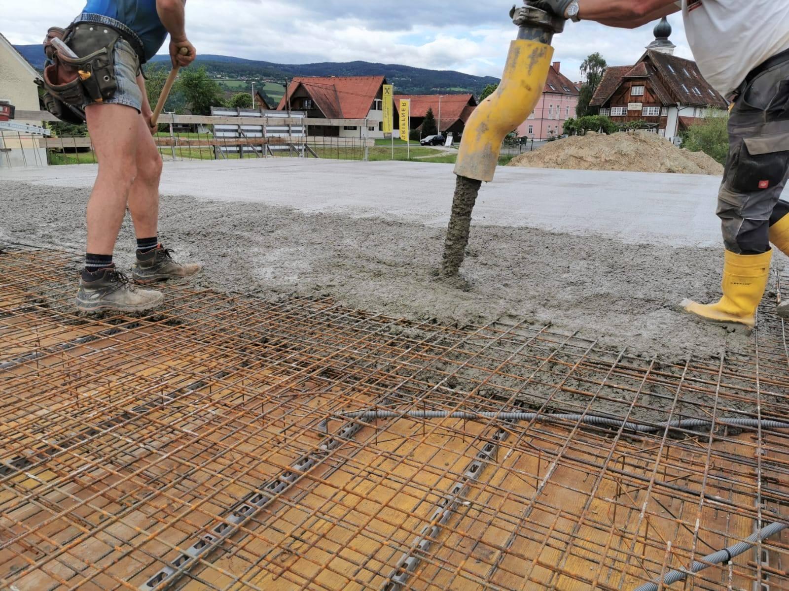 Betonieren Decke - Bauunternehmung Kiegerl GmbH
