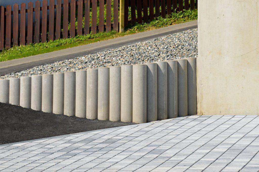 Palisaden Außenanlage- Bauunternehmung Kiegerl