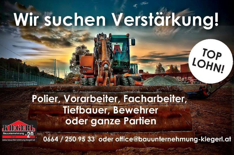Freie Stellen Jobs - Baufirma Kiegerl
