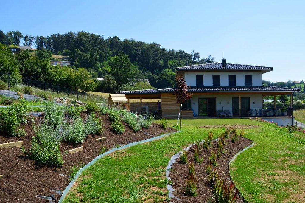 Geländemodellierung Außenanlage - Bauunternehmung Kiegerl