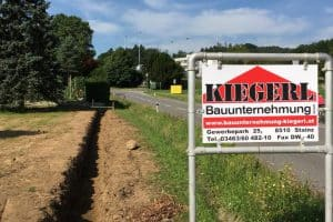 Baggerarbeiten Tiefbau - Bauunternehmung Kiegerl GmbH