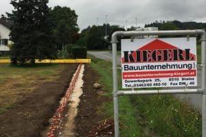 Tierbau Bagger Erdaushub - Bauunternehmung Kiegerl