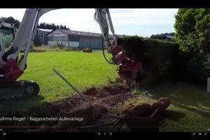 Baufirma Kiegerl - Bagger Außenanlage